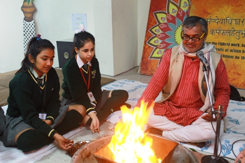 Belief in God, Life and Self - Marks the Ceremony of Havan Performed for Classes XII